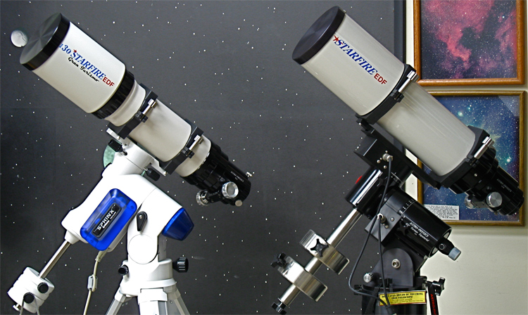 Astro-Physics 130 f6 EDF and 130 f6.3 EDF Telescopes at Company Seven (231,404 bytes)