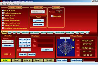 Company Seven   Astro-Physics GTO Mounts Control Methods