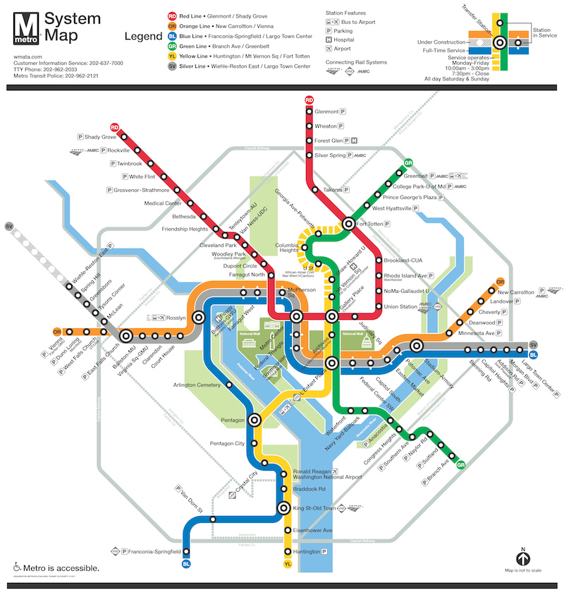 Company Seven Washington D C Metrorail System Map