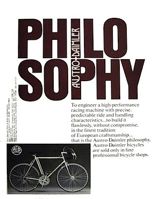Austro-Daimler Philosophy ad of 1977