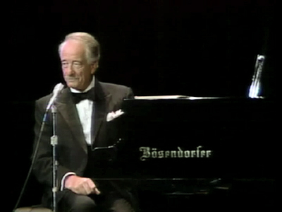 Victor Borge performing his one man show