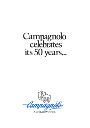 Campangolo 50th Anniversary brochure cover