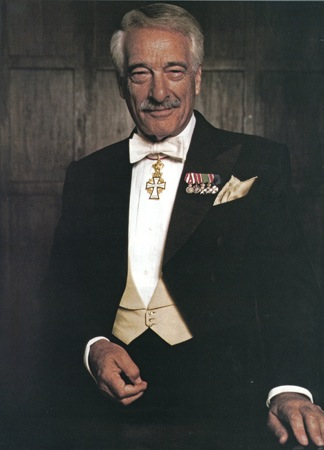 Victor Borge with Orders Of Knighthood
