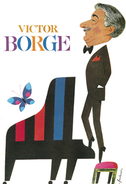 Victor Borge with an Imperial Bosendorfer piano
