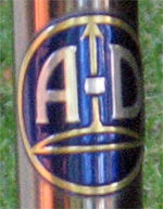 Austro-Daimler head badge of my Vent Noir II