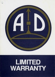 Steyr-Daimler-Puch of America Corp warranty card front (19,197 bytes