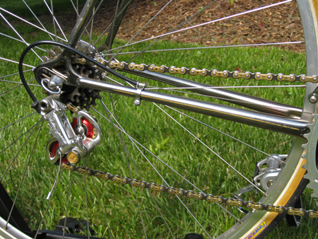 Regina Oro Record Chain with Campagnolo 50th Anniversary Group rear Derailleur on my ADVNII