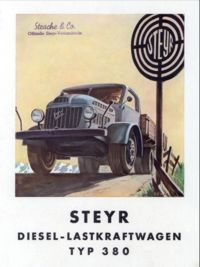 Steyr 380 Diesel-Lastkraftwagen advertisement (11,911 bytes)
