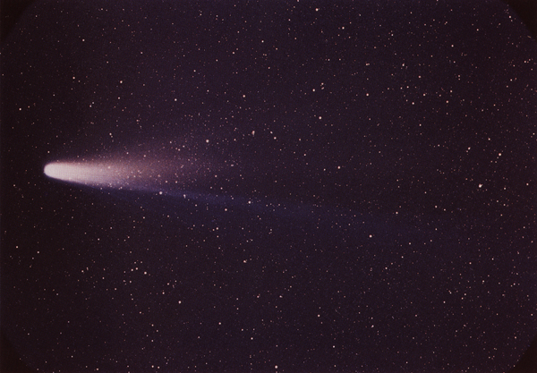 Comet Halley taken by Dr. William Liller with C7 telescope (235,951 bytes)