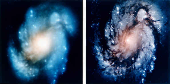 Hubble Space Telescope WF/PC and WFPC2 images (151,981 bytes)