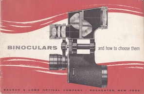 Bausch & Lomb Life Long Binoculars 1934 Catalog and price sheet .pdf request page