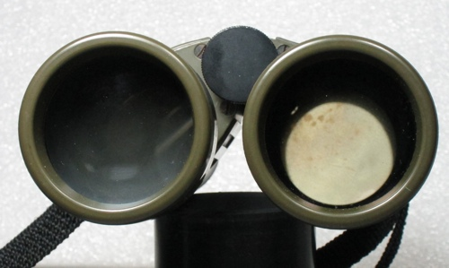 Leitz binocular fogged and with spotted mildew on prisms (53,541 bytes)