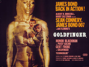 Goldfinger 1964 movie poster (28,642 bytes)