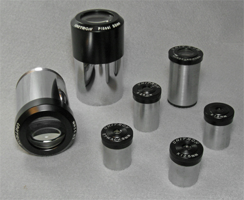 Unitron eyepieces including those provided with our Model 114 telescope