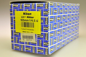 UV-Nikkor packing box and labels