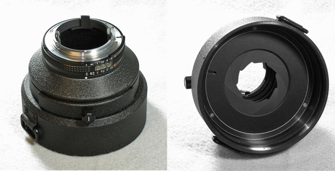 Nikon 300mm f/2.0 EDIF rear housing diaphragm and drop-in filter holder (92,442 bytes)