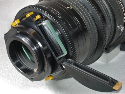 Century modified Nikkor 300 f/2 lens filter holder (48,183 bytes)