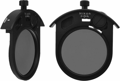 Nikon C-PL1L Circular Polarizing Filter within drop-in Filter Holder (51,883 bytes)