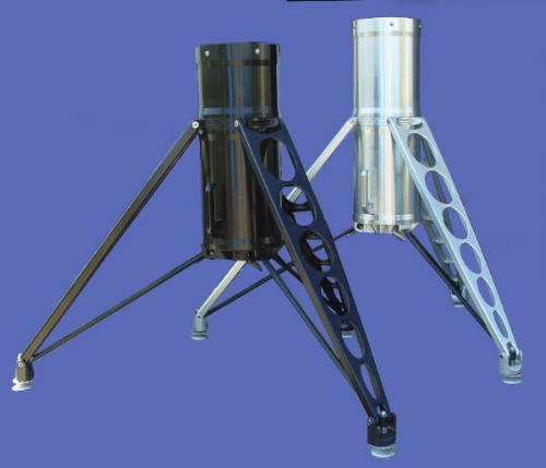 Monolith Tripods in black and in clear finishes (257,488 bytes)