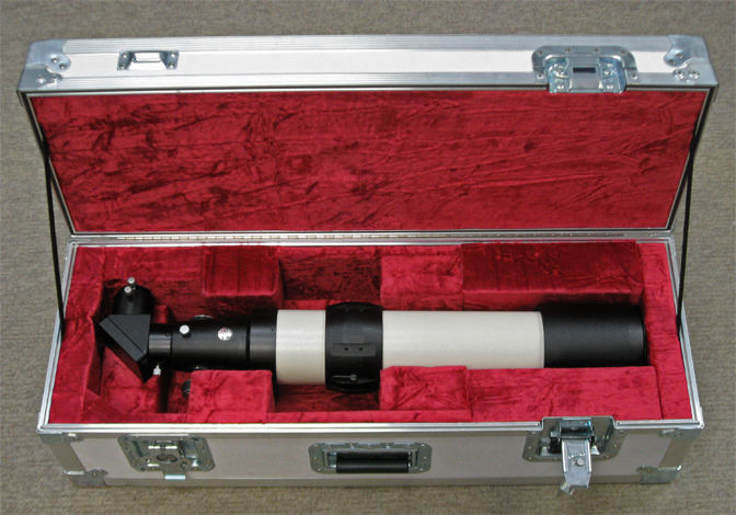 TeleVue NP101 telescope in optional Company Seven ATA case (240,578 bytes)